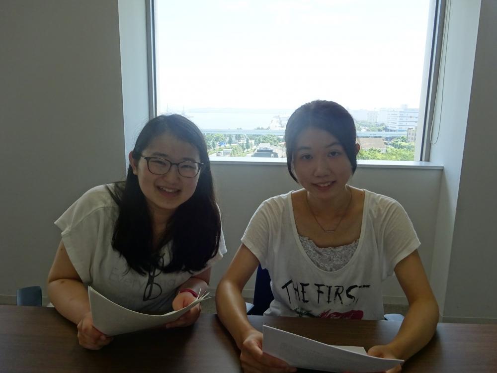 放送研究部の三田麻結佳さんと坪根多恵さん