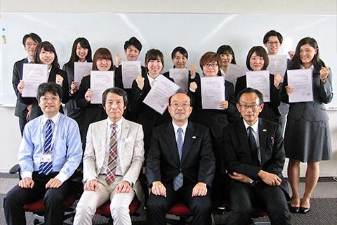 平成29年度後期海外派遣協定留学生認証式_thumb