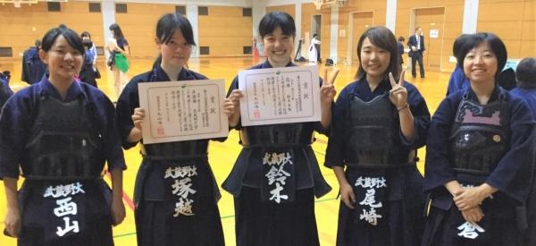 武蔵野大学剣道部女子部員の皆さん