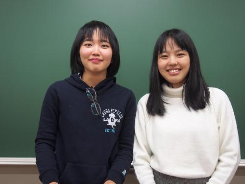 天野智(左)、松山結衣(右)